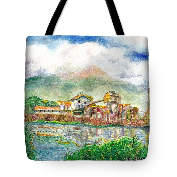 Tote Bag featuring the painting Paia Mill 1 by Eric Samuelson