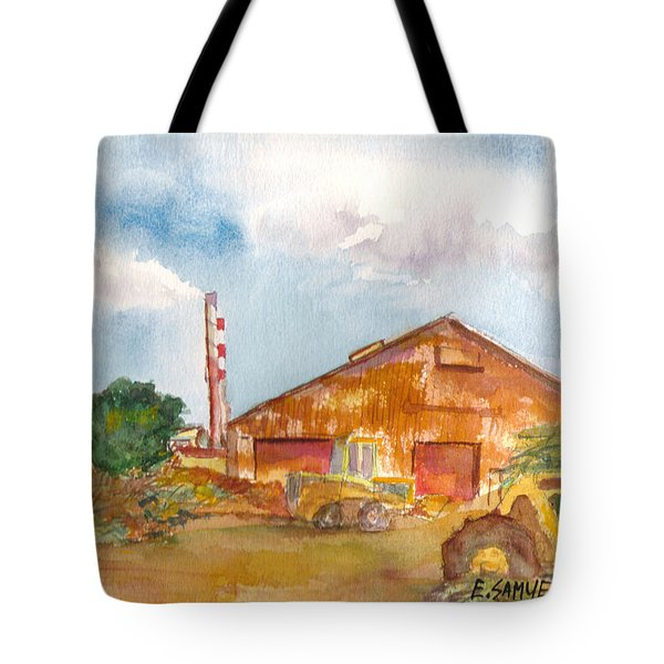 Tote Bag featuring the painting Paia Mill 3 by Eric Samuelson