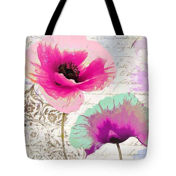 Paint And Poppies II Tote Bag