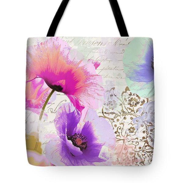 Paint And Poppies Tote Bag
