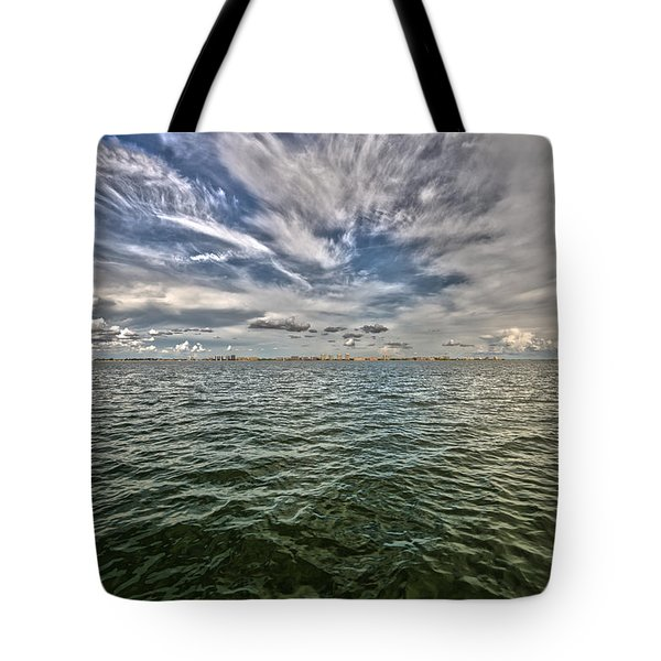 Paint Brush Sky - Ft Myers Beach Tote Bag