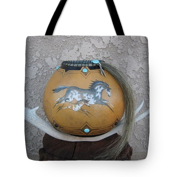 Paint Horses #go25 Tote Bag by Barbara Prestridge