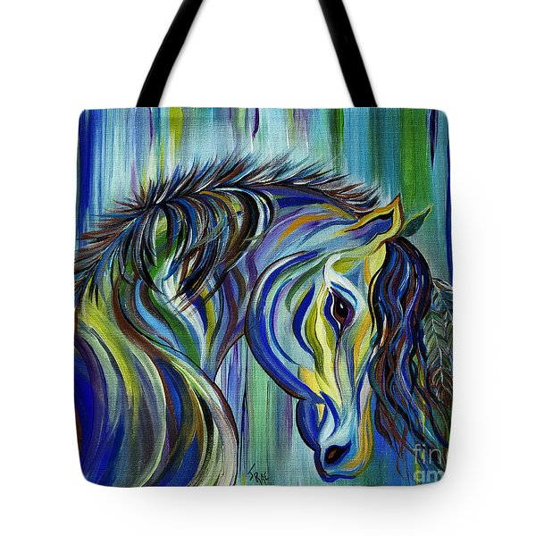 Paint Native American Horse Tote Bag by Janice Rae Pariza