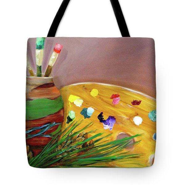 Paint On My Palette Tote Bag
