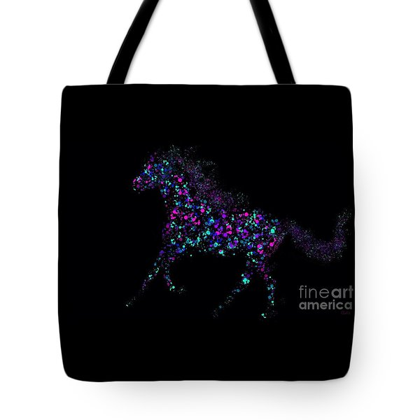 Tote Bag featuring the painting Paint Splattered Pony by Nick Gustafson
