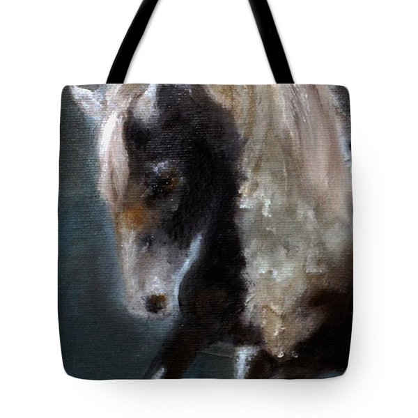 Tote Bag featuring the painting Paint Stallion I by Barbie Batson