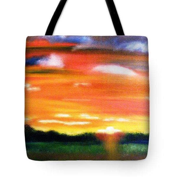 Paint The Sky Tote Bag by  Debbie