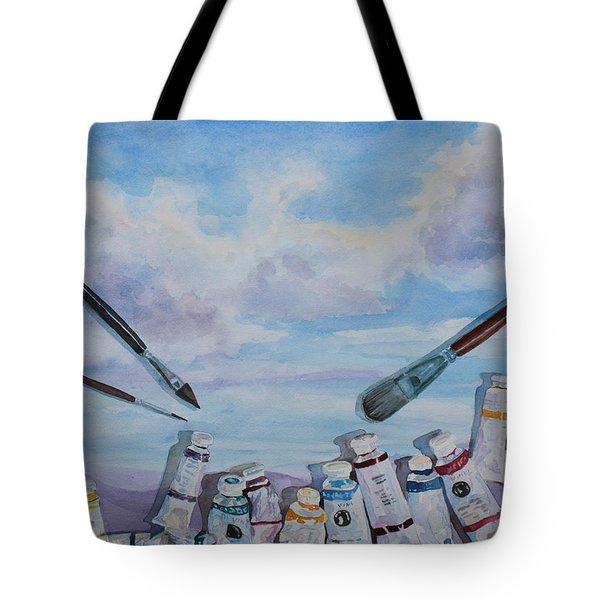 Paint Tube Hills Tote Bag