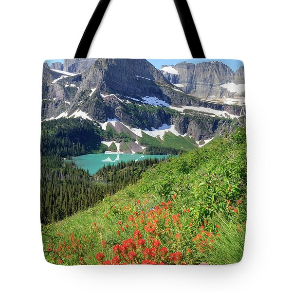 Paintbrush Above Grinnell Lake Tote Bag