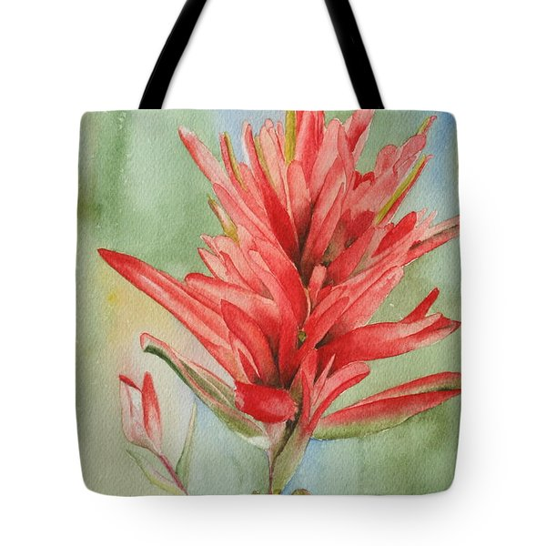 Paintbrush Portrait Tote Bag