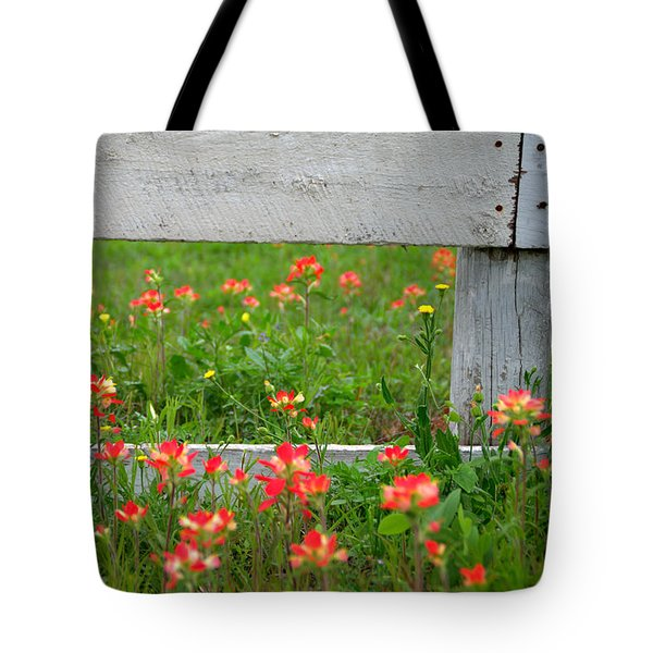 Paintbrushes And Fence Posts Tote Bag