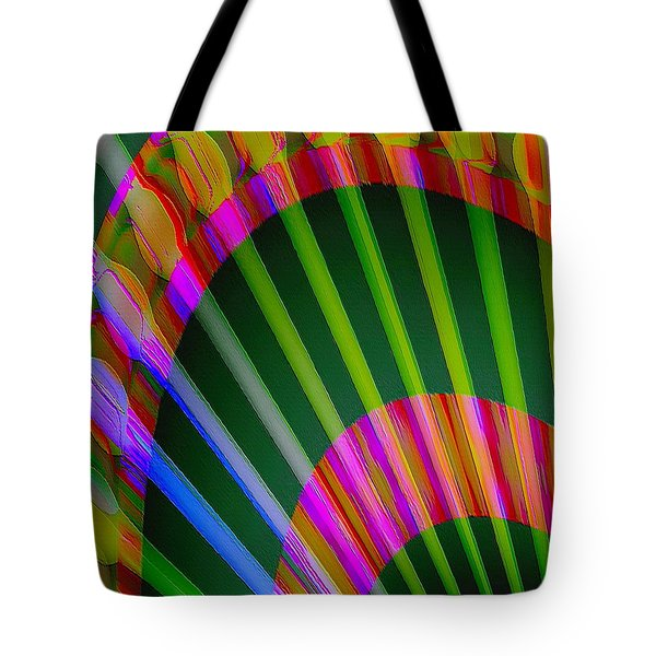 Tote Bag featuring the digital art Paintbrushes by Visual Artist Frank Bonilla