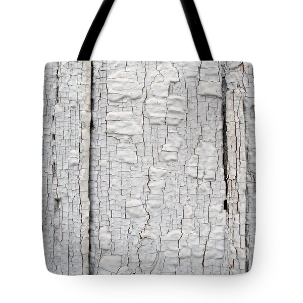 Painted Aged Wood Tote Bag by John Williams