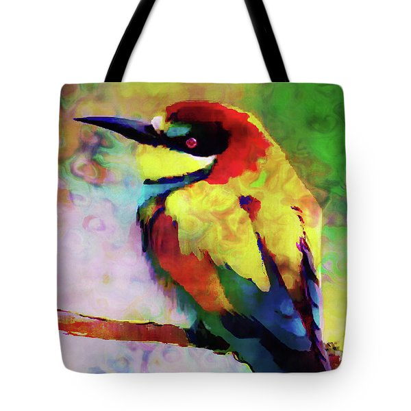 Painted Bee Eater Tote Bag
