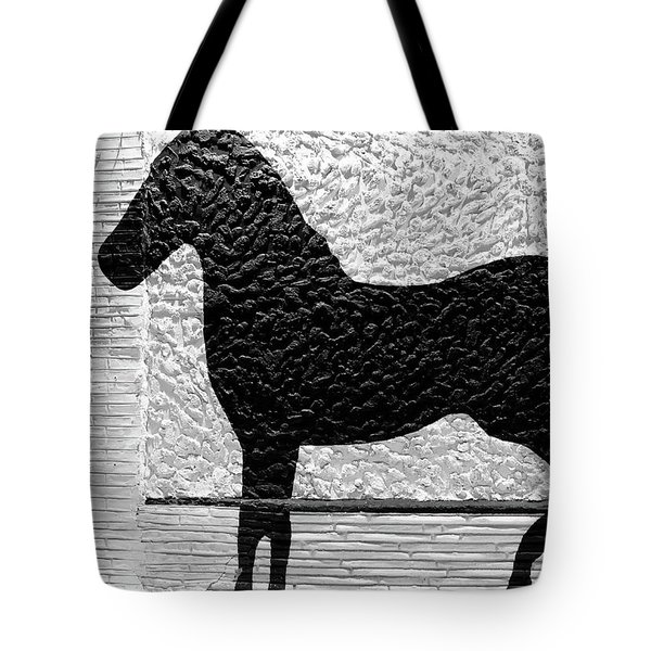 Tote Bag featuring the photograph Painted Black - Stone Pony by Colleen Kammerer