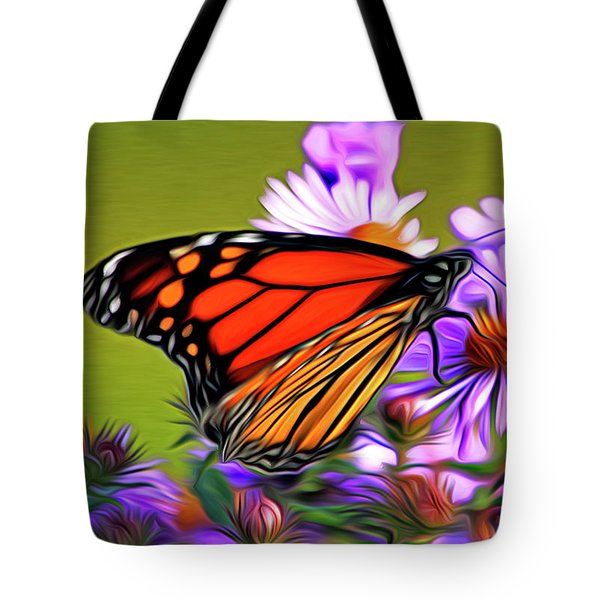 Painted Butterfly Tote Bag by David Kehrli
