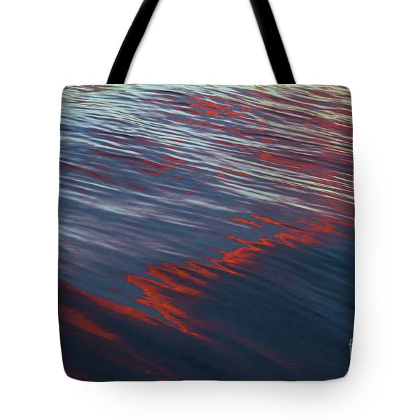 Painted By Nature - Water On The Flight Through The Fiery Skies Tote Bag