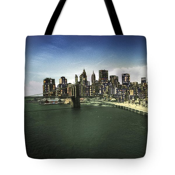 Painted City Tote Bag