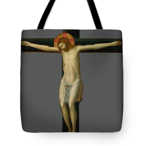 Painted Crucifix Tote Bag