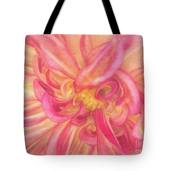 Painted Dahlia Tote Bag