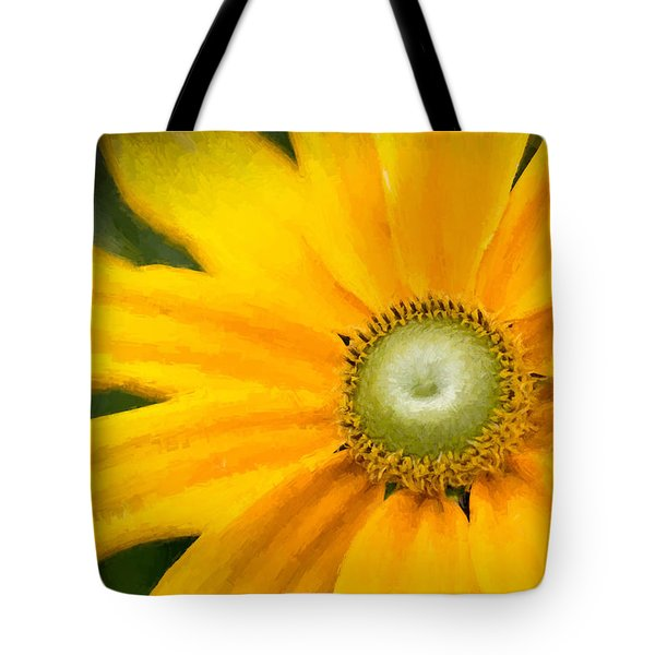 Tote Bag featuring the photograph Painted Daisy by Cathy Donohoue