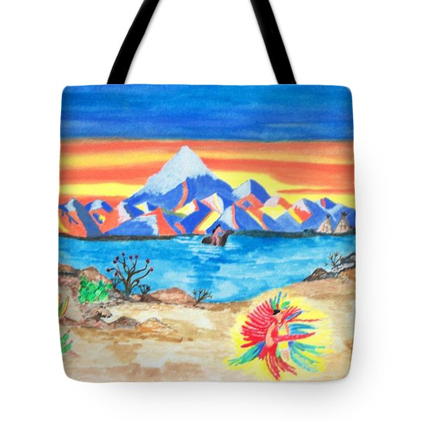 Tote Bag featuring the painting Painted Desert              by Connie Valasco