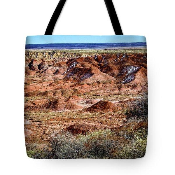 Painted Desert In Winter Tote Bag