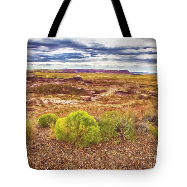 Tote Bag featuring the photograph Painted Desert No. 2  ... by Chuck Caramella