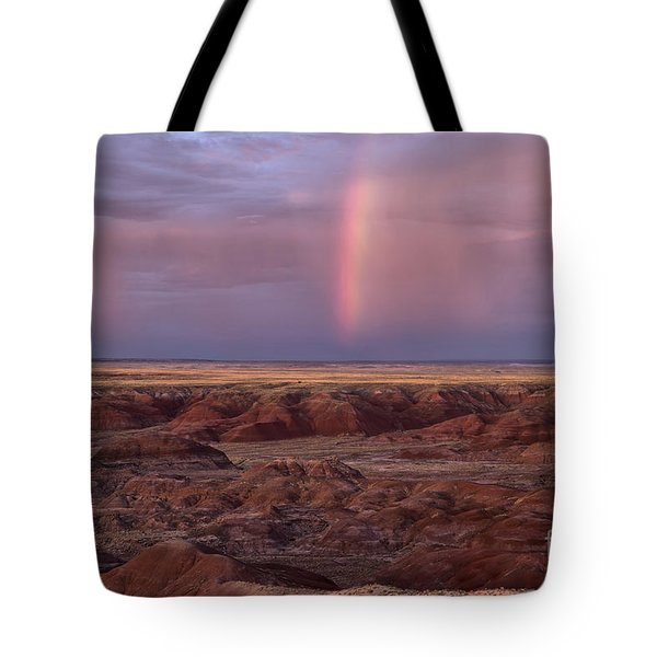 Painted Desert Rainbow Tote Bag