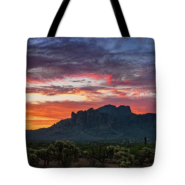 Tote Bag featuring the photograph Painted Desert Skies Over The Supes  by Saija Lehtonen