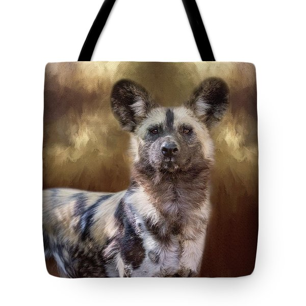 Painted Dog Portrait II Tote Bag