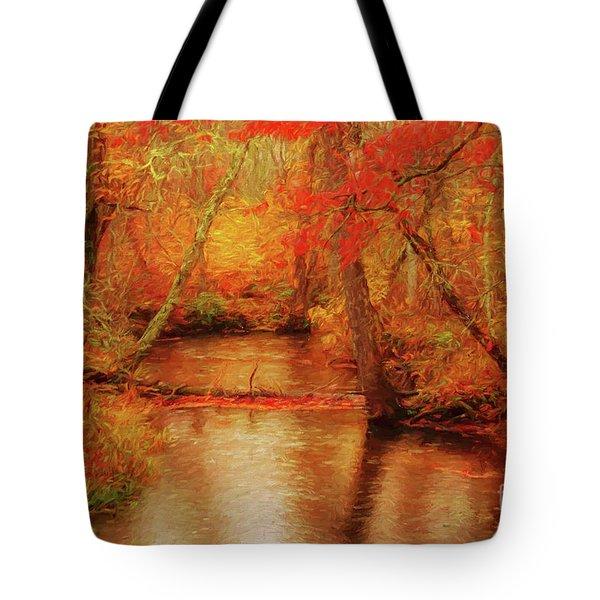Painted Fall Tote Bag