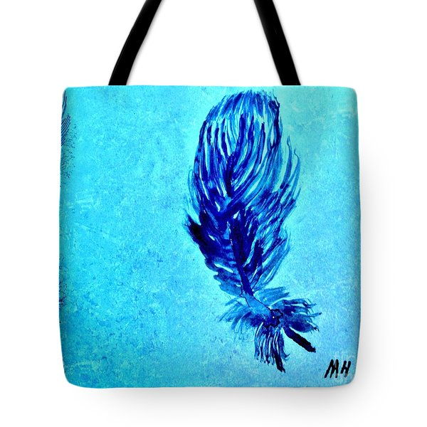 Painted Feather Tote Bag by Marsha Heiken