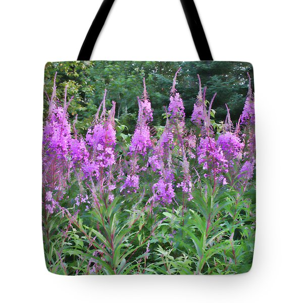 Painted Fireweed Tote Bag