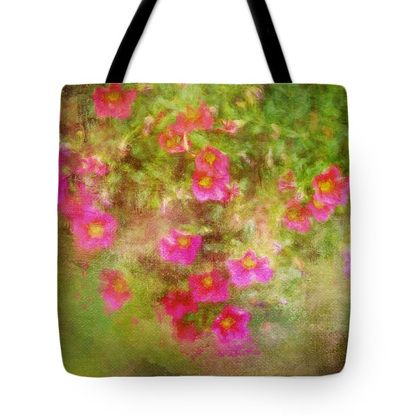 Painted Flowers Tote Bag