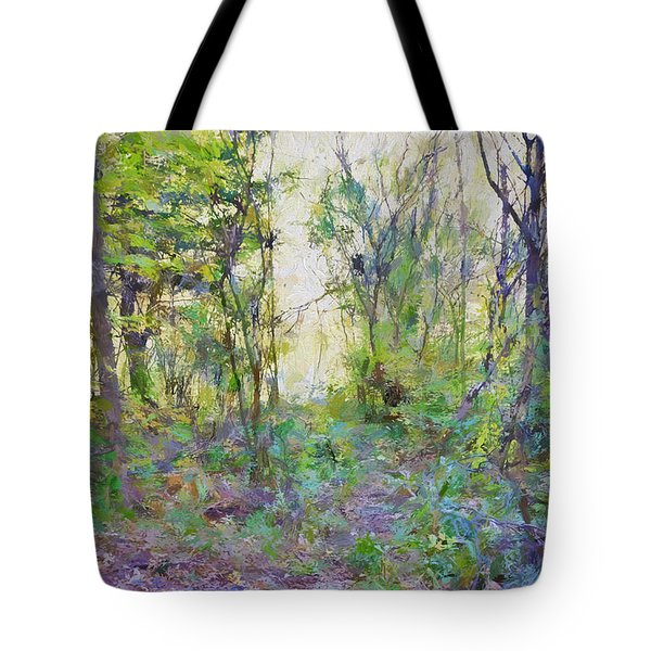 Painted Forrest Tote Bag