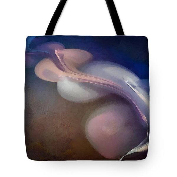 Painted Fractal Composition Tote Bag