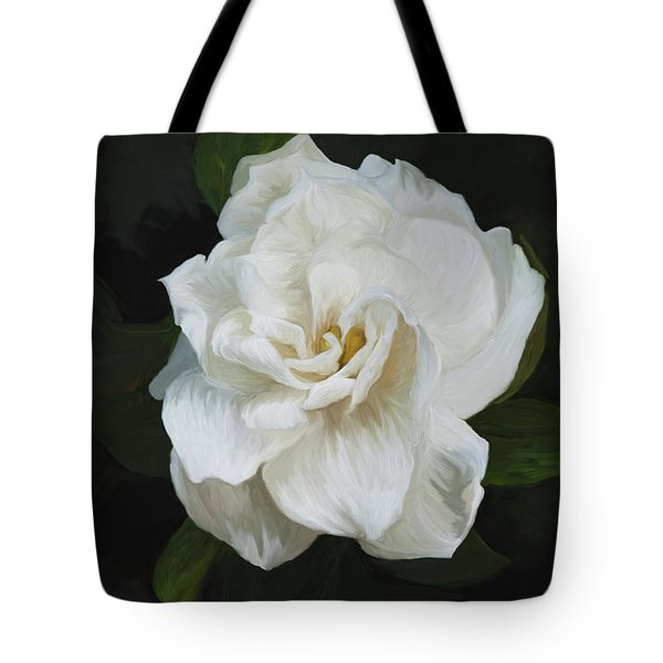 Tote Bag featuring the photograph Painted Gardenia by Phyllis Denton