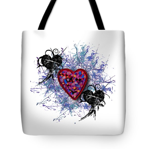 Painted Heart 3 Tote Bag