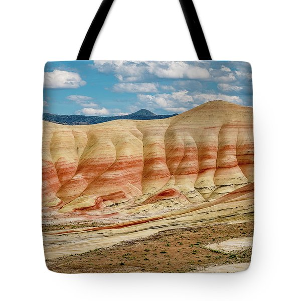 Tote Bag featuring the photograph Painted Hills And Afternoon Sky by Greg Nyquist