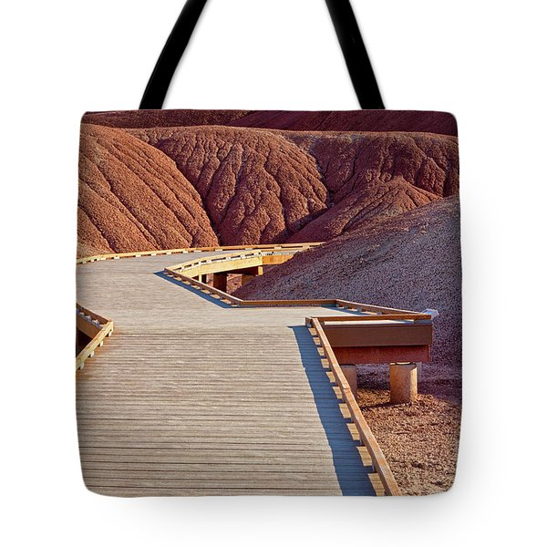 Painted Hills Boardwalk Tote Bag by Jerry Fornarotto