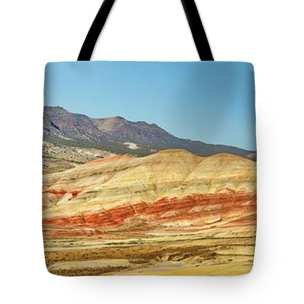 Painted Hills Pano 2 Tote Bag by Jerry Fornarotto