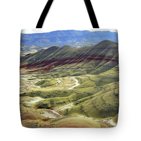 Painted Hills Panorama  Tote Bag