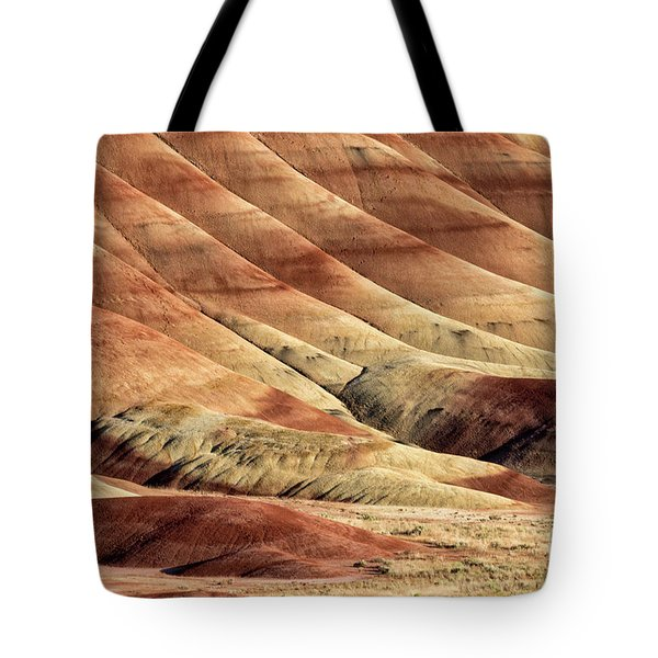 Painted Hills Textures Tote Bag by Jerry Fornarotto