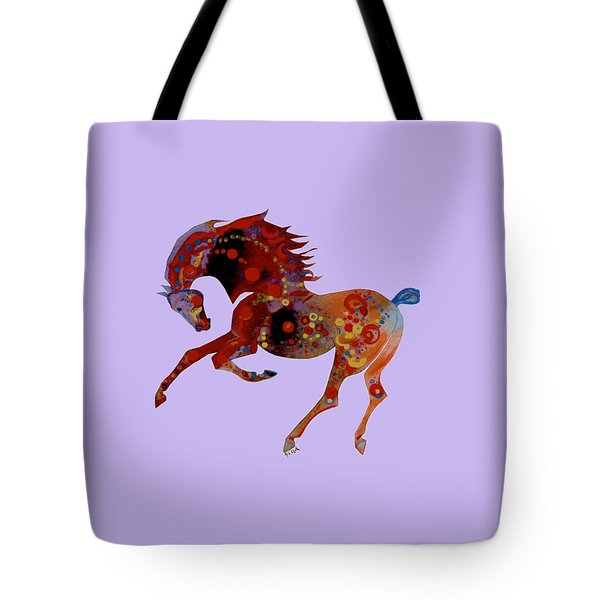 Painted Horse 3 Tote Bag by Mary Armstrong