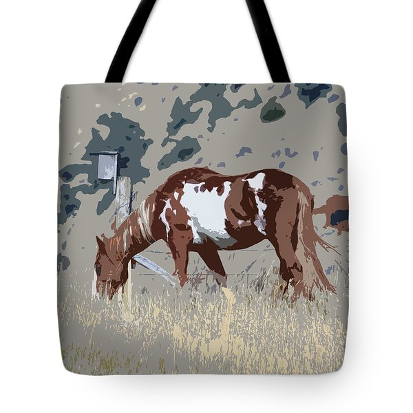 Tote Bag featuring the photograph Painted Horse by Steve McKinzie