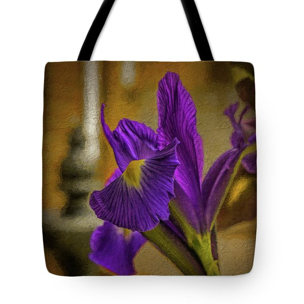 Painted Iris Tote Bag
