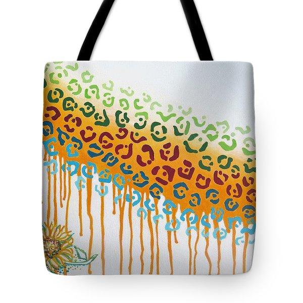 Painted Jaguar Tote Bag