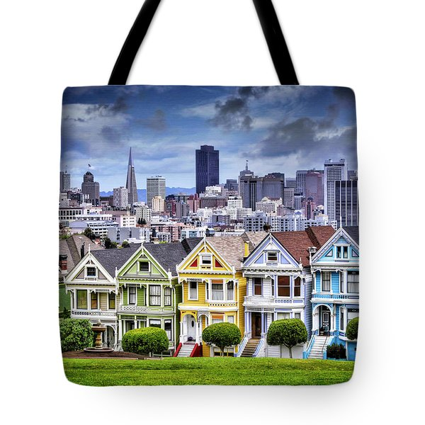 Painted Ladies Of San Francisco  Tote Bag