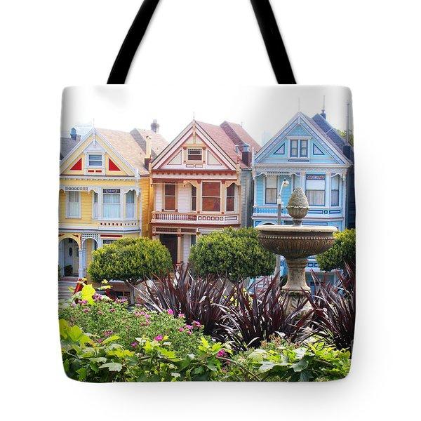 Painted Ladies San Francisco Tote Bag